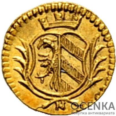 Золотая монета 1/16 Дуката Германия - 1