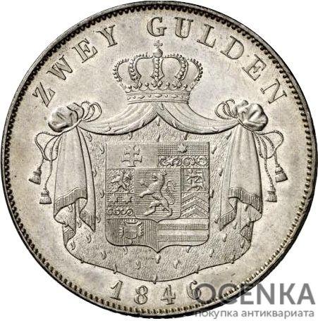 Серебряная монета 2 Гульдена (2 Gulden) Германия - 2