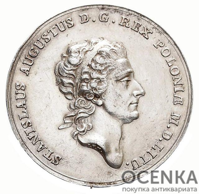 Серебряная монета Талер Средневековой Польши - 9