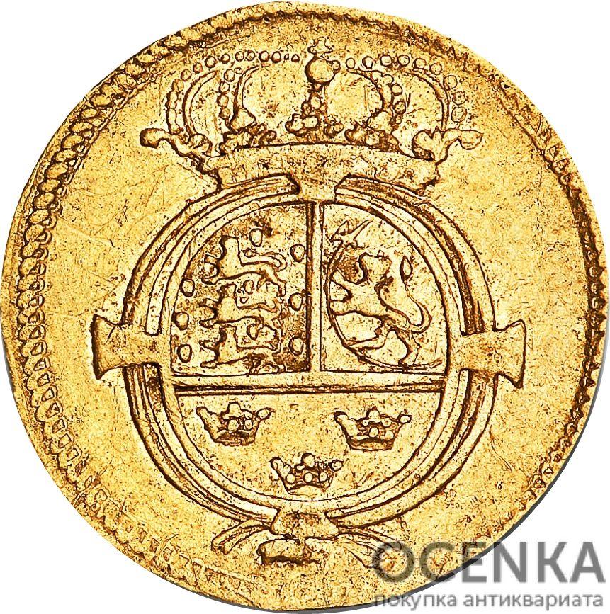Золотая монета ½ Дуката (½ Ducat) Дания - 2
