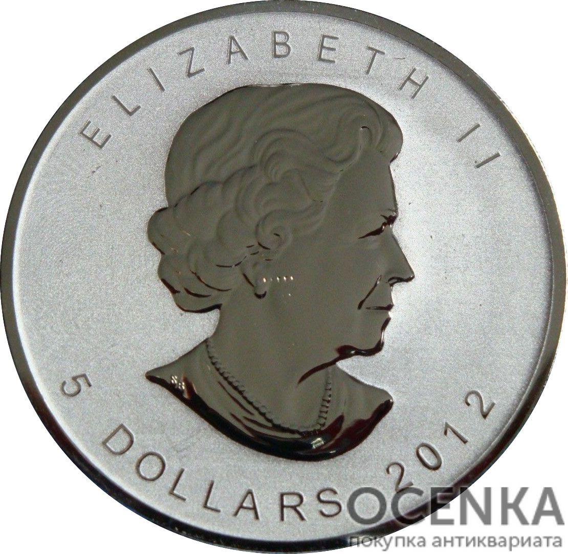 Серебряная монета 5 Долларов Канады - 7