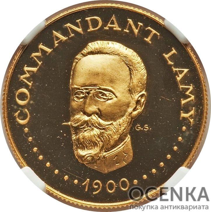 Золотая монета 1000 Франков (1000 Francs) Чад - 1