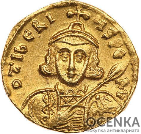 Золотой солид Византии, Тиверий III, 698-705 год