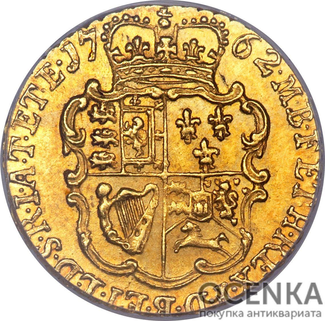 Золотая монета ¼ Guinea (1/4 гинеи) Великобритания - 2