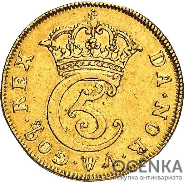 Золотая монета 2 Дуката (2 Ducats, Dukater) Дания - 9