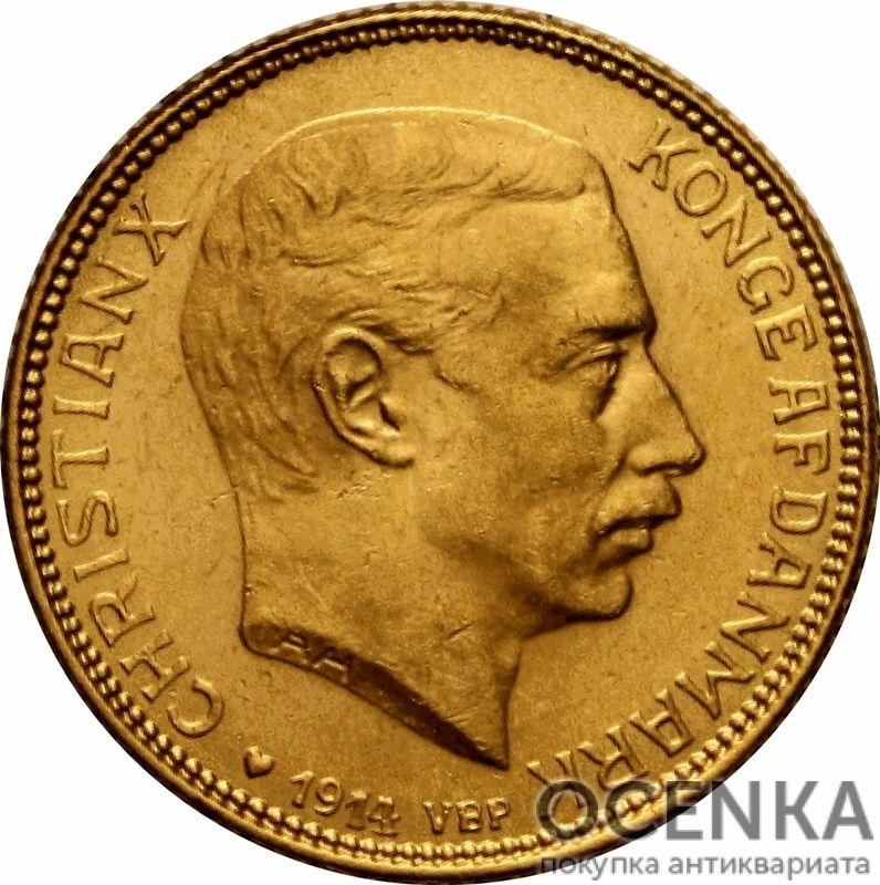 Золотая монета 20 Крон (20 Kroner) Дания - 5