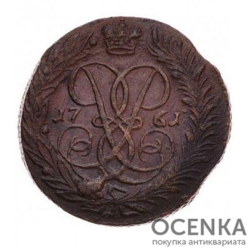 Медная монета 2 копейки Елизаветы Петровны - 7