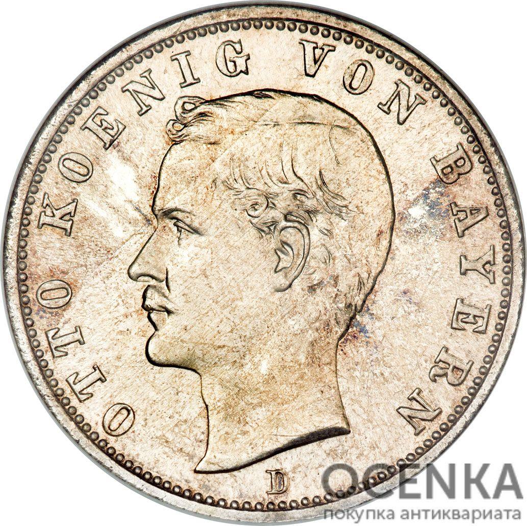 Серебряная монета 2 Марки (2 Mark) Германия - 3