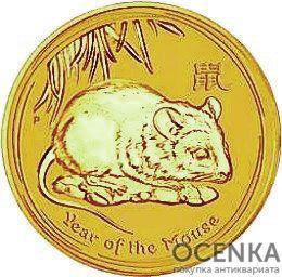Золотая монета 30000 долларов 2008 год. Австралия. Лунар. Год Крысы - 1