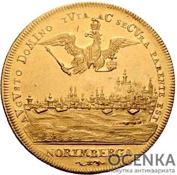 Золотая монета 8 Дукатов Германия - 2