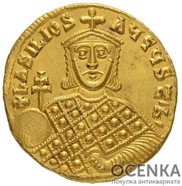 Золотой солид Византии, Василий I Македонянин, 867-886 год