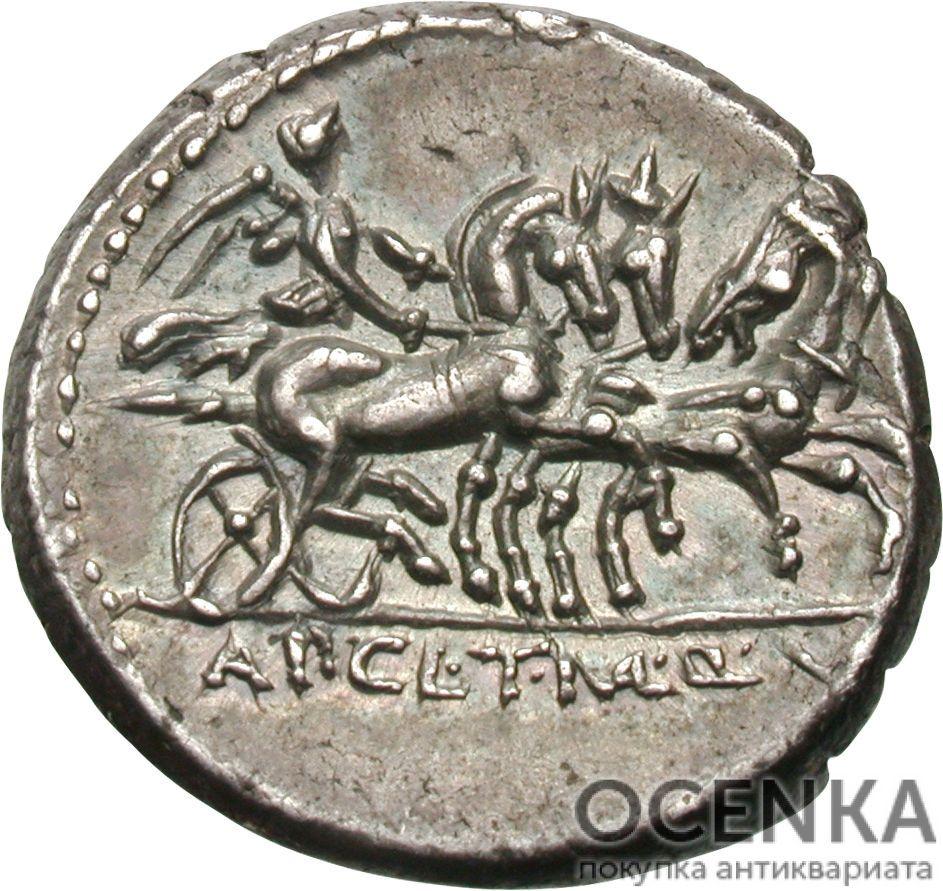 Серебряный Республиканский Денарий Аппия Клавдия Пульхра, 111-110 год до н.э. - 1