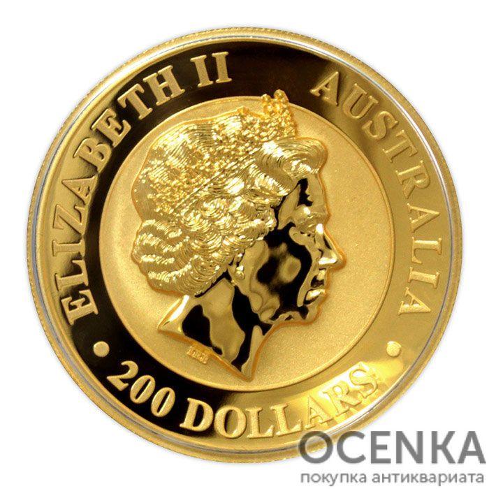 Золотая монета 200 долларов 2017 год. Австралия. Клиновидный орел - 1
