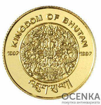 Золотая монета 300 Нгултрумов (300 Ngultrums) Бутана - 1
