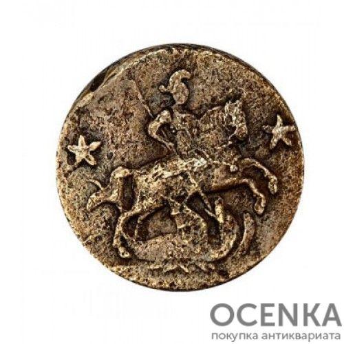 Медная монета 2 копейки Петра 3 - 1