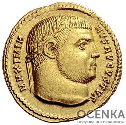 Золотой ауреус, Гай Цезарь Галерий Валерий Максимиан Август, 305-311 год