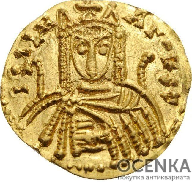 Золотой солид Византии, Императрица Ирина, 797-802 год