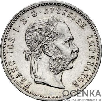 Серебряная монета ¼ Флорина (¼ Florin) Австро-Венгрия - 1