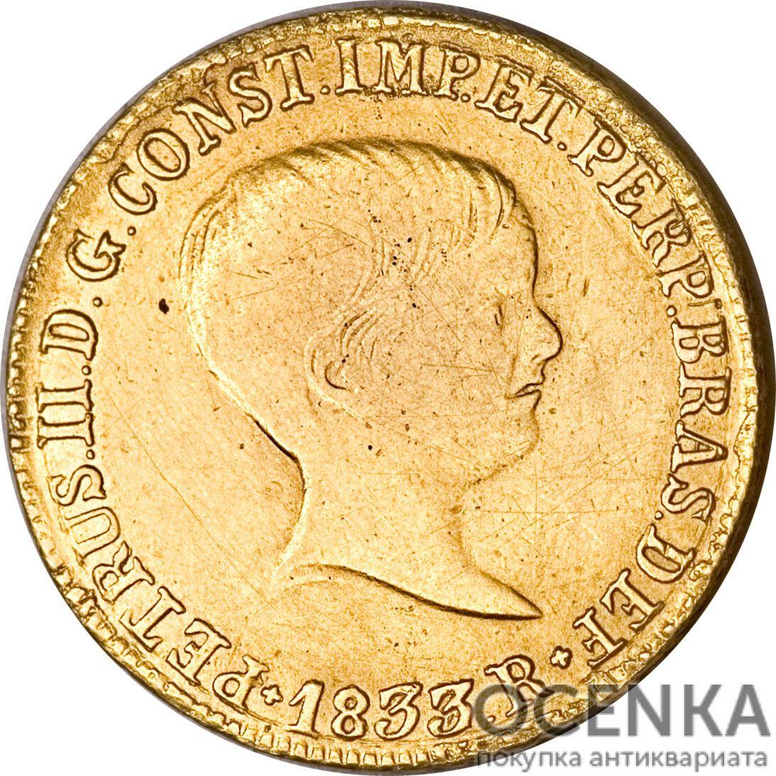 Золотая монета 4000 рейсов (4000 Réis) Бразилия - 5