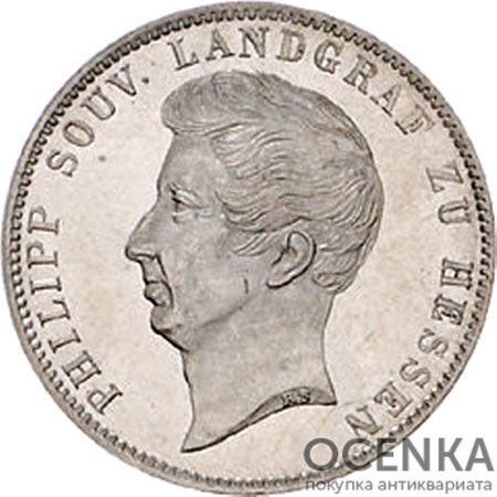 Серебряная монета ½ Гульдена (½ Gulden) Германия - 1