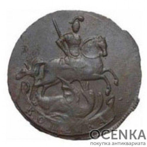 Медная монета 1 копейка Елизаветы Петровны - 2