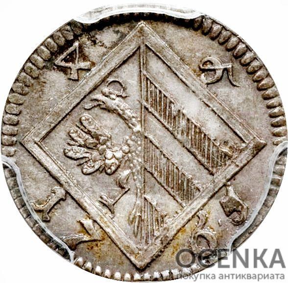 Серебряная монета 4 Пфеннига (4 Pfennig) Германия - 6