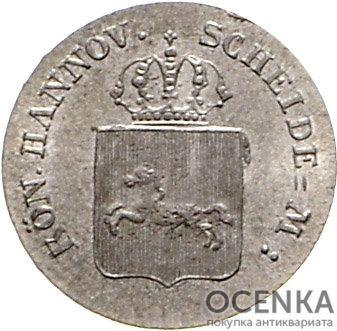 Серебряная монета 4 Пфеннига (4 Pfennig) Германия - 5