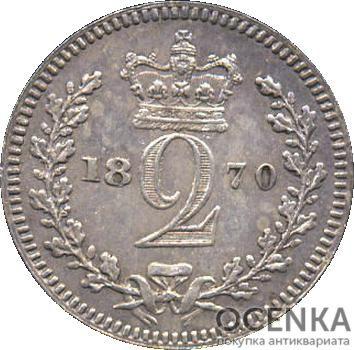 Серебряная монета 2 Пенса (2 Pence) Великобритания - 4