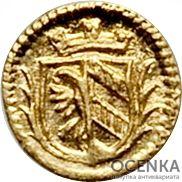 Золотая монета 1/32 Дуката Германия - 3