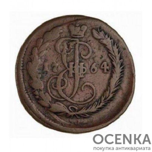 Медная монета Денга (Деньга) Екатерины 2 - 9