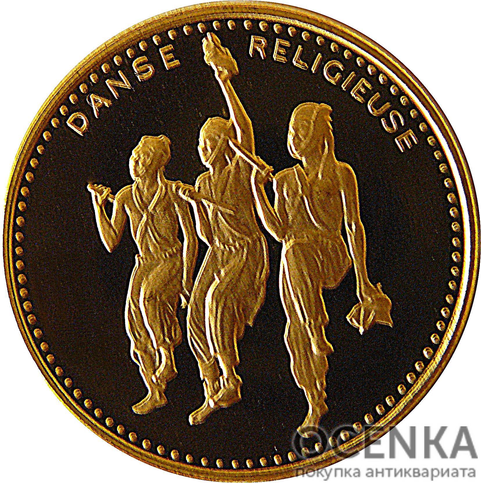 Золотая монета 2500 Франков Бенина - 1