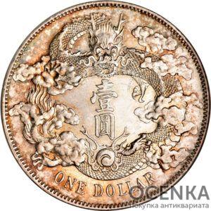 Серебряная монета 1 Доллар (1 Dollar) Китай