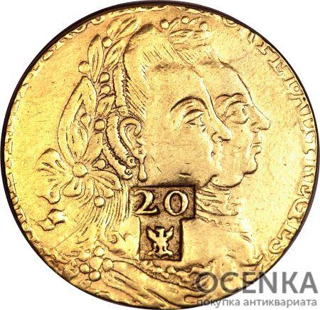 Золотая монета 20 Ливров (20 Livres) Франция - 2