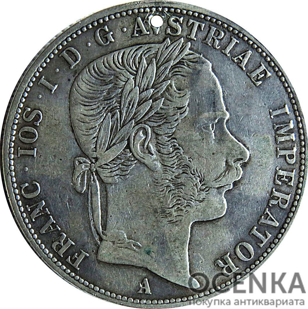 Серебряная монета 2 Флорина (2 Florins) Австро-Венгрия - 5