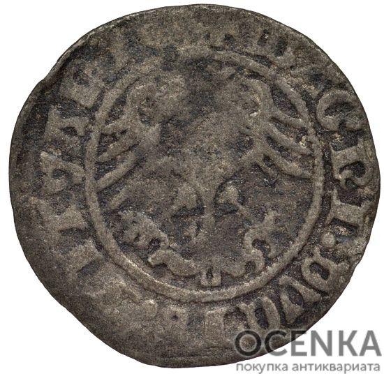 Серебряная монета Полугрош Средневековой Литвы - 5