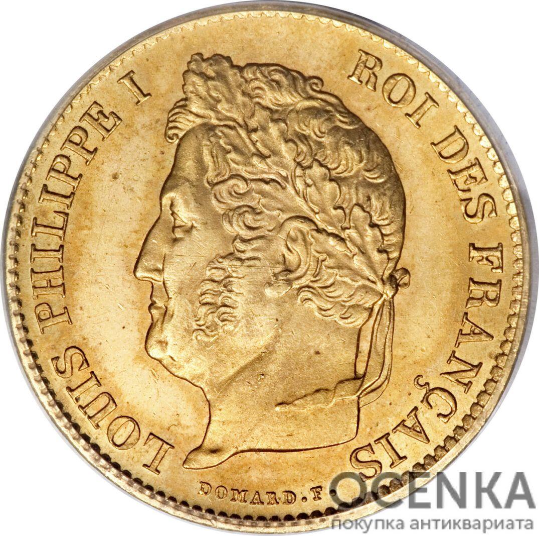 Золотая монета 40 Франков (40 Francs) Франция - 7