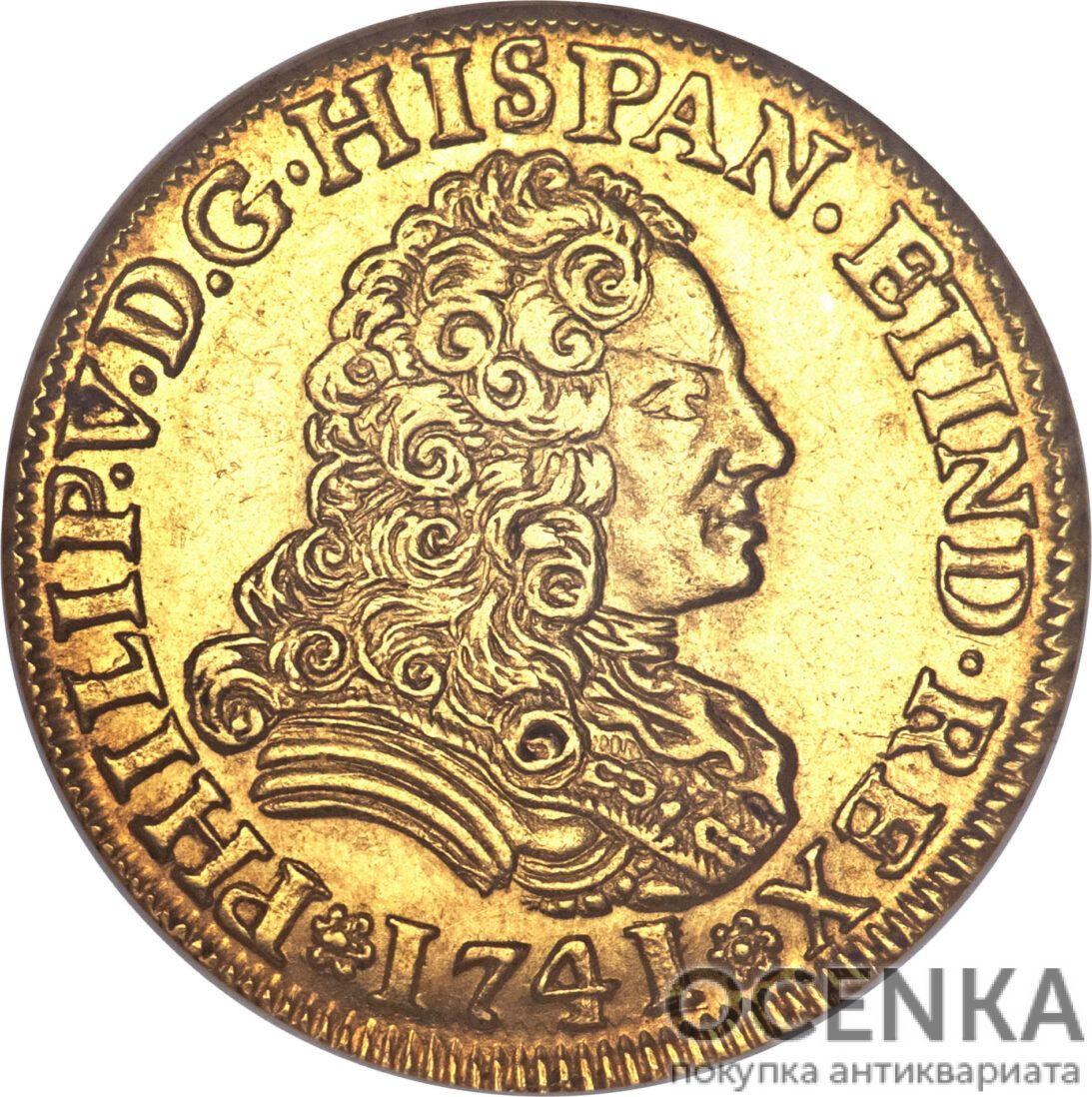 Золотая монета 2 Эскудо (2 Escudos) Испания - 7