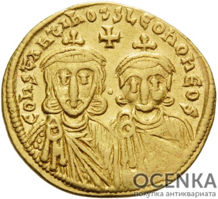 Золотой солид Византии, Лев IV Хазар, 775-780 год