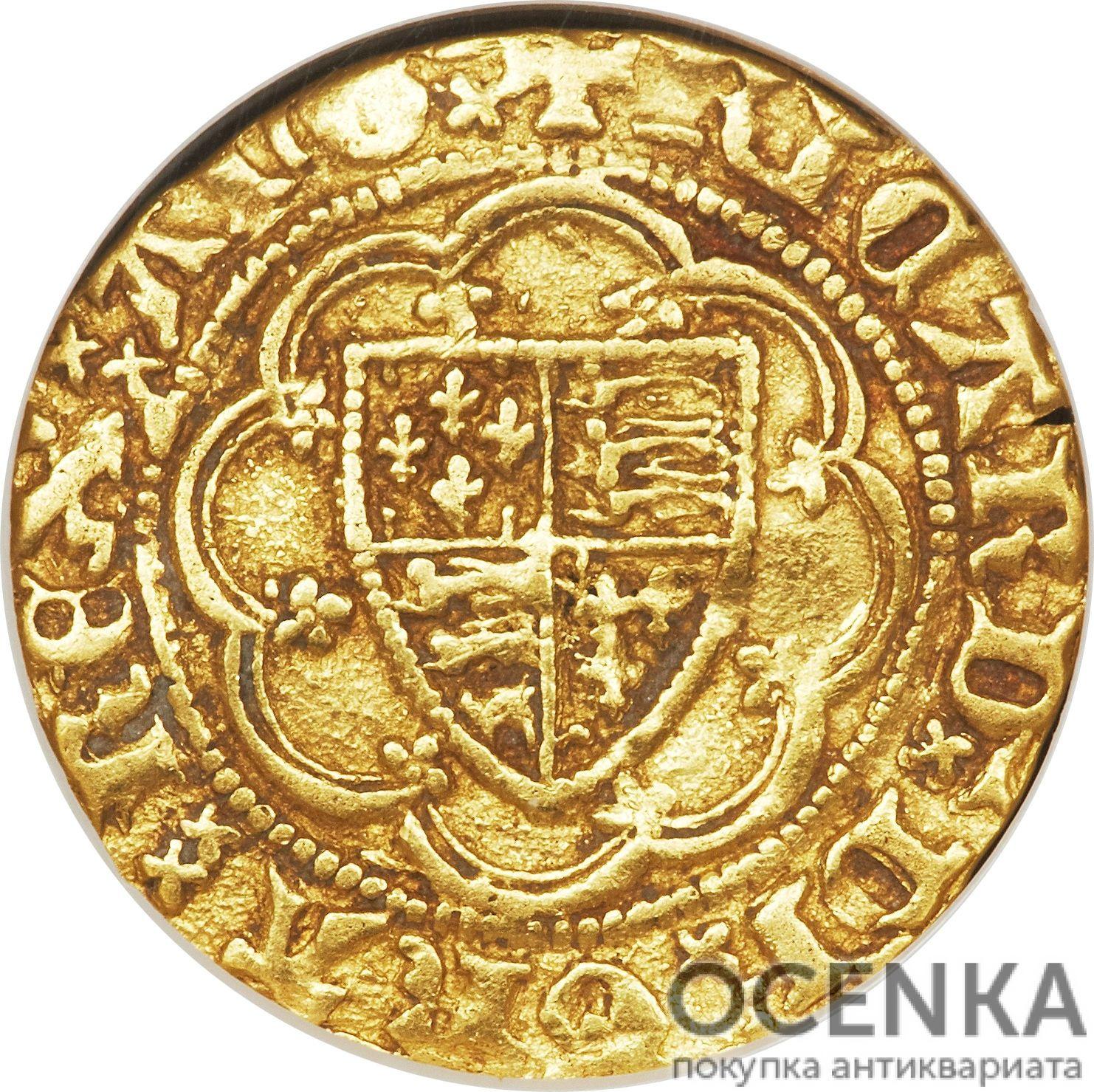 Золотая монета ¼ Noble (1/4 нобля) Великобритания - 3