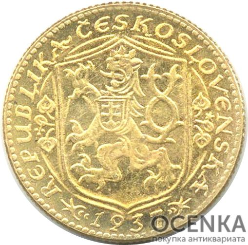 Золотая монета 1 Дукат (1 Dukát) Чехословакия - 2