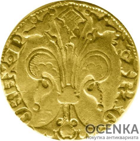 Золотая монета 1 Флорин(1 Florin) Франция - 4