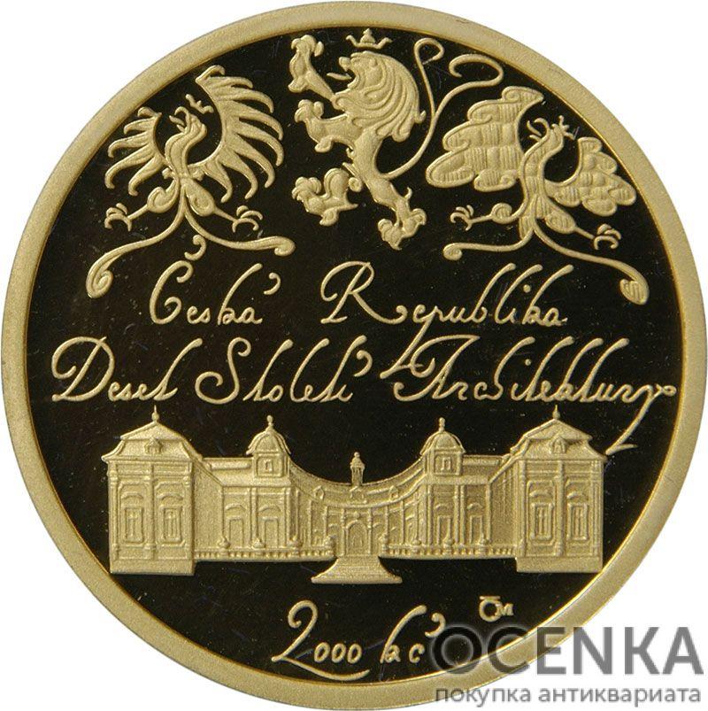 Золотая монета 2000 Крон (2000 Korun) Чехия - 2