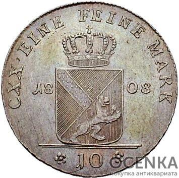 Серебряная монета 10 Крейцеров (10 Kreuzer) Германия - 2