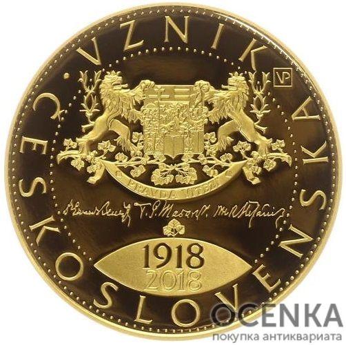 Золотая монета 10 000 Крон (10 000 Korun) Чехия - 4