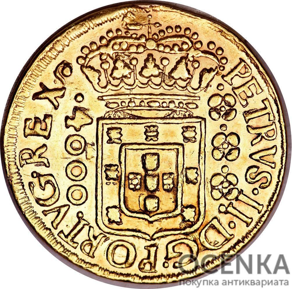 Золотая монета 4000 рейсов (4000 Réis) Бразилия