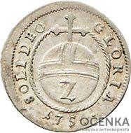 Серебряная монета 2 Крейцера (2 Kreuzer) Германия - 2