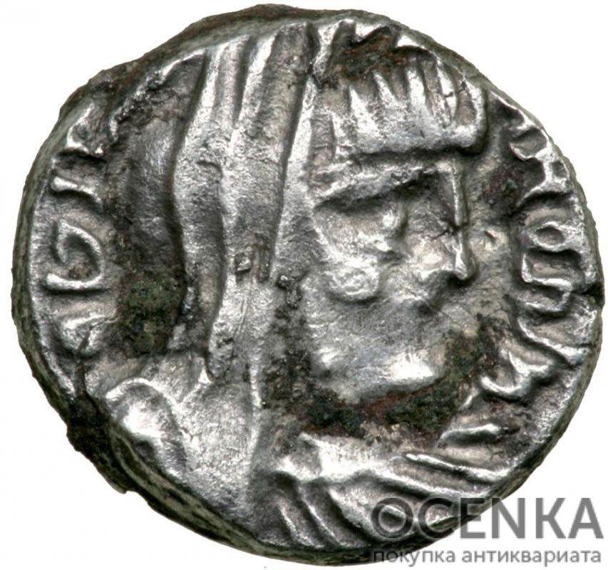 Серебряная монета Дархма Древней Греции - 2