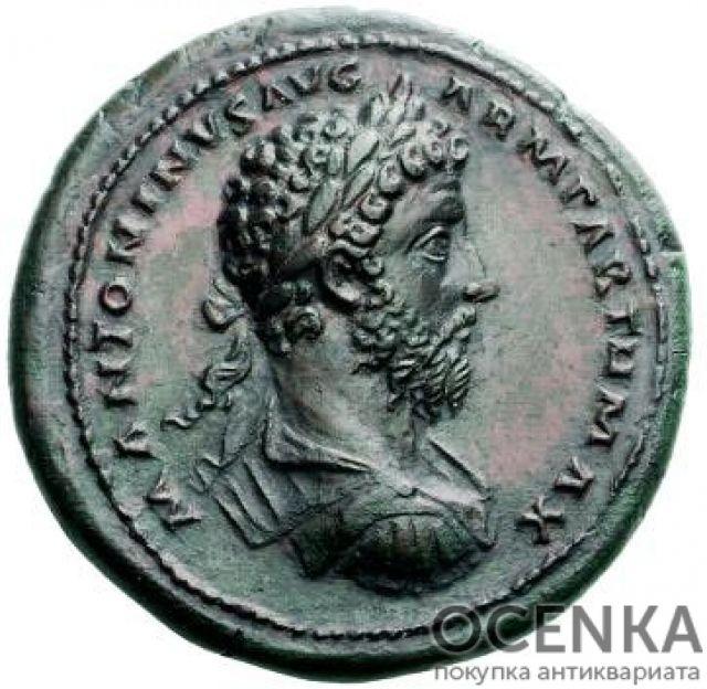 Медная монета Медальон древнего Рима