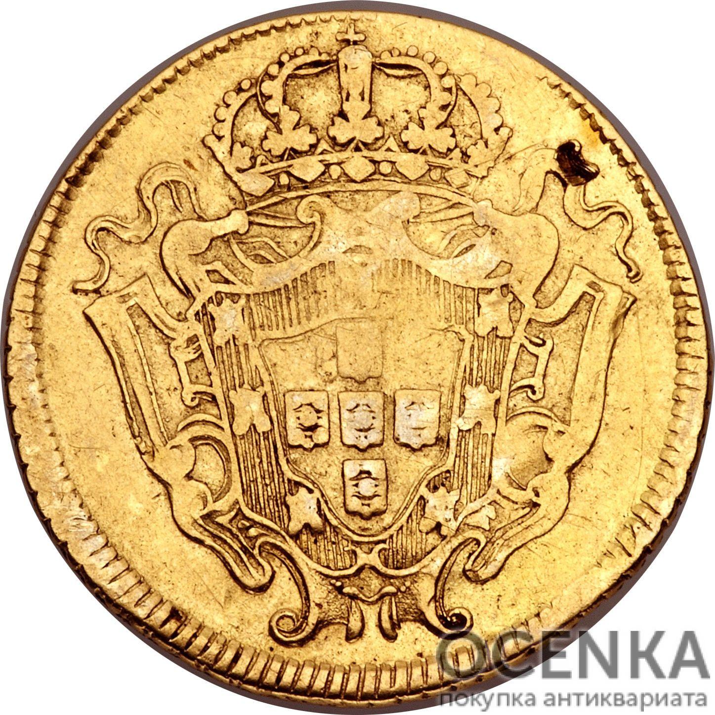 Золотая монета 3200 рейсов (3200 Réis) Бразилия - 1