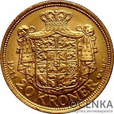 Золотая монета 20 Крон (20 Kroner) Дания - 2